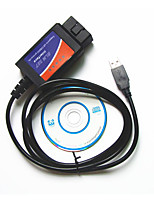 USB OBD2 ELM327 Automotive Diagnostic Test Line, Plastic Shell