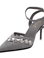 Women's Sandals Summer Sandals / Pointed Toe PU Casual Stiletto Heel Others Black / Gray Others