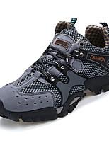Коричневый / Зеленый / Серый-Мужской-На каждый день-Тюль-На плоской подошве-Удобная обувь-Кеды