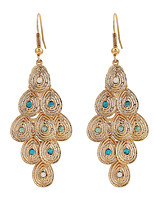 Fine Jewelry European Style High-Grade Charms Fashion Golden Rhinestone Zinc Alloy Earrings