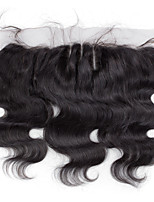 10inch to 20inch Black Hand Tied Body Wave Human Hair Closure Medium Brown Swiss Lace about 50g gram Average Cap Size
