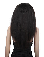 20-24inch Kinky прямая бразильские Remy девственницы человеческих волос Glueless фронта шнурка парики для афро-американцев