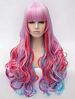 lumière purple.cosplay perruque vent lolita lolita multi couleur gradient perruque perruques synthétiques quotidiennes
