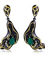 Boucle Forme Ovale Boucles d'oreille goutte Bijoux 1 paire Mode Halloween / Mariage / Soirée / Quotidien / Décontracté Zircon / Cuivre