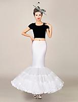 Slips(Tülle / Polyester,Weiß) -100cm-3-Meerjungfrau- und Trompetenstil