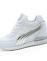 Da donna-Sneakers-Casual / Sportivo-Comoda-Piatto-Tulle / PU (Poliuretano)-Nero / Bianco / Grigio