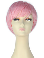 Women Short Straight Hair Rihanna Style Pink Fashion Party Cosplay Wig