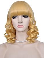 ola de Europa y América peluca corta rubia de la moda de las pelucas de las mujeres cortas pelucas sintéticas