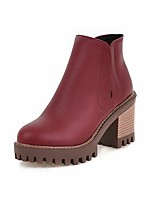 Women's Boots Fall / Winter Fashion Boots Dress Chunky Heel Others Black / Brown / Red / Gray Walking