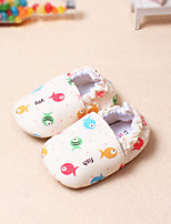 Girl's Flats Spring / Fall Square Toe / First Walkers Cotton Casual Blue / White / Beige