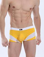 Men's Cotton / Nylon Color Block Breathable Boxer Briefs Underwear
