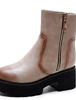 Damen-Stiefel-Büro / Kleid / Lässig-Lackleder / Kunstleder-Keilabsatz-Absätze / Plateau / Modische Stiefel / Komfort / Armeestiefel /