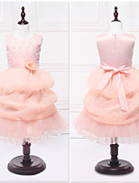 Ball Gown Tea-length Flower Girl Dress - Organza / Satin Sleeveless Jewel with Lace / Tiers