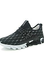 Men's Sneakers Novelty Leatherette Outdoor Flat Heel Lace-up Black / White / Orange Running EU39-43