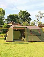 / Ultraviolet Resistant / Anti-Insect / Well-ventilated / Oversized Polyester Two Rooms Tent Army Green