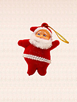 6pcs Mini Santa Claus Pendant Christmas Tree Decoration Winter Xmas Tree Hanging Ornament