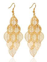 Alloy Drop Earrings Golden Earrings Wedding/Party 1 pair