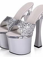 Damen-High Heels-Hochzeit / Lässig / Party & Festivität-maßgeschneiderte Werkstoffe-Durchsichtige Absätze-Absätze / Plateau / Pumps /