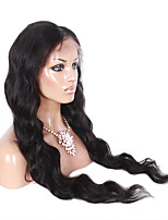 16-26 Inch Natural Black Color Natural Wavy Lace Wig U Part Brazilian Virgin Hair Lace Front Wig With Baby Hair