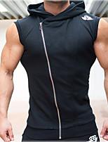 Men's Solid Sport Tank Tops,Cotton Sleeveless-Black / White / Gray