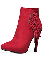 Women's Boots Winter Heels Leatherette Outdoor Stiletto Heel Others Black / Red Others