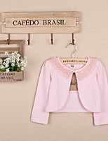 Girl's Casual/Daily Solid Blouse,Cotton Spring Pink / White