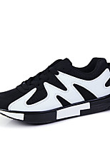 Men's Sneakers Spring / Fall Styles / Round Toe PU Casual Flat Heel Others Red / Black and White Sneaker