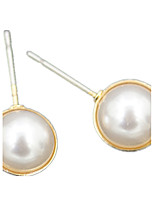 Boucle Forme de Cercle Bijoux 1 paire Mode Mariage / Soirée / Quotidien / Décontracté / Sports Alliage / Imitation de perle FemmeDoré /