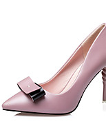 Women's Heels Summer Heels PU Casual Stiletto Heel Bowknot Black / Pink / Silver / Gray Others