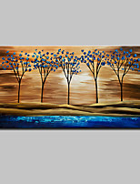 Hand Painted Abstract Tree Landscape Oil Painting On Canvas Wall Art With Stretched Frame Ready To Hang 70x140cm