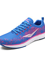 Women's Sneakers Spring / Fall Round Toe Tulle Athletic / Casual Flat Heel Others / Lace-up Blue / Green
