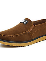 Women's Shoes Suede Spring Fall Comfort Flats Loafers & Slip-Ons Outdoor Casual Flat Heel Slip-on Blue Brown Walking
