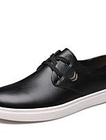 Черный Желтый Коричневый-Для мужчин-Для офиса Повседневный Для вечеринки / ужина-Микроволокно-На плоской подошве-Удобная обувь