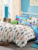 Good fabric Print Bedlinen Fleece winter bedding set queen king size soft bedsheet pillowcase Duvet cover 4pcs bed set