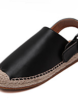 Women's Sandals Summer Sandals / Round Toe Microfibre Casual Flat Heel Others Black / White Others