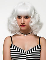 pelo corto blanco, peluca de la manera europea y americana.