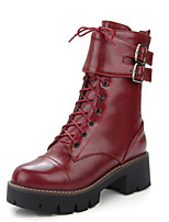 Women's Boots Winter Platform / Riding Boots / Bootie / Comfort / Combat Boots / Round Toe Patent Leather /