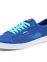 Men's Shoes Tulle Casual Sneakers Casual Sneaker Flat Heel Lace-up Blue / Gray