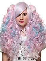azul estilo de color rosa el pelo largo, Europa y la peluca de moda estados unidos.