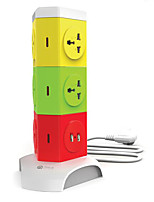 Multifunction Lightning Protection And Overload USB Cable With Smart Socket Power Strip Row