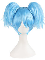 Cosplay Wigs Assassination Classroom Cosplay Blue / Green Short Anime Cosplay Wigs 25 CM Synthetic Fiber Female