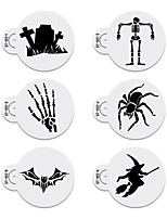 6pcs Halloween Stencil Templates Cookie &Cake Stencil Set Party Cake Stencil Cake Decoration Stencils ST-912