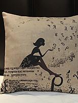 A Girl Linen Pillow Cover