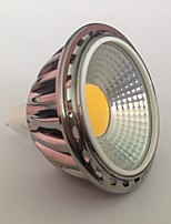 5 GU5.3 (MR16) LED-spotlampen MR16 1 COB 450 lm Warm wit Decoratief AC 12 V 1 stuks