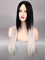 Grey Ombre Wig False Hair Synthetic Wigs for Black Women 28