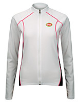 Sports Cycling Tops Women's Bike Breathable / Front Zipper / Wearable / Ultra Light Fabric Long Sleeve LYCRA® / Terylene