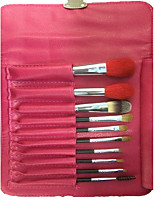 10 Makeup Brushes Set Goat Hair Professional / Full Coverage / Portable Wood Face / Eye