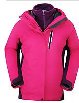 Hiking Tops Women's Waterproof / Breathable / Insulated / Rain-Proof / Thermal / Warm Fall/Autumn / Winter Terylene Purple / Lake BlueS /