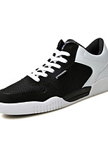 Men's Sneakers Spring / Fall Comfort Tulle Casual Flat Heel  Black / Blue / Gray Walking