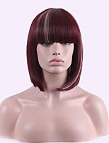 Euramerican производитель ddirect продажи внешней торговли чистый короткий парик красный цвет вина подчеркивает рис белый парик косплей.